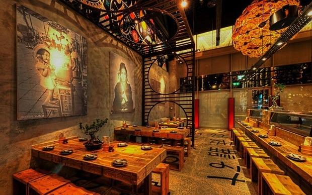 Kết quả hình ảnh cho Thiết kế căn nhà hàng chọn món Nhật Bản
