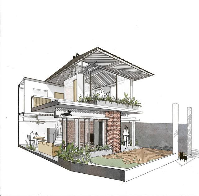 [Ảnh] Thiết kế đặc biệt giúp ngôi nhà ở TP HCM chống lại nắng nóng - Ảnh 2.