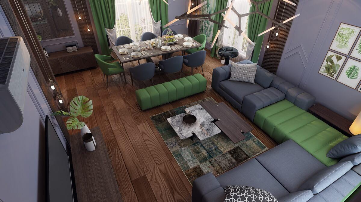 nội thất phòng khách đẹp hiện đại 12