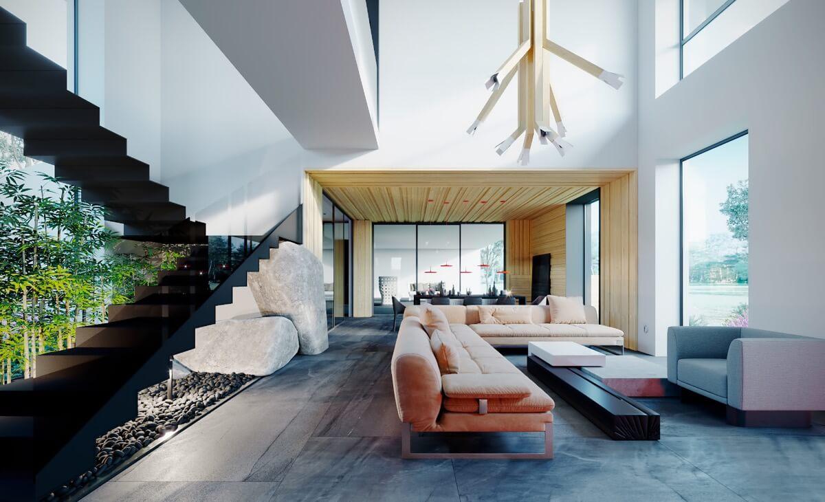 nội thất phòng khách đẹp hiện đại 2