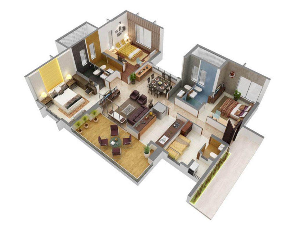 xây nhà cấp 4 diện tích 8x12m