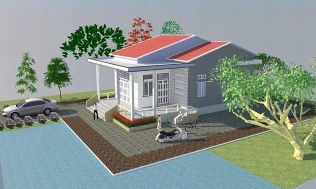xây nhà cấp 4 diện tích 8x12m-13