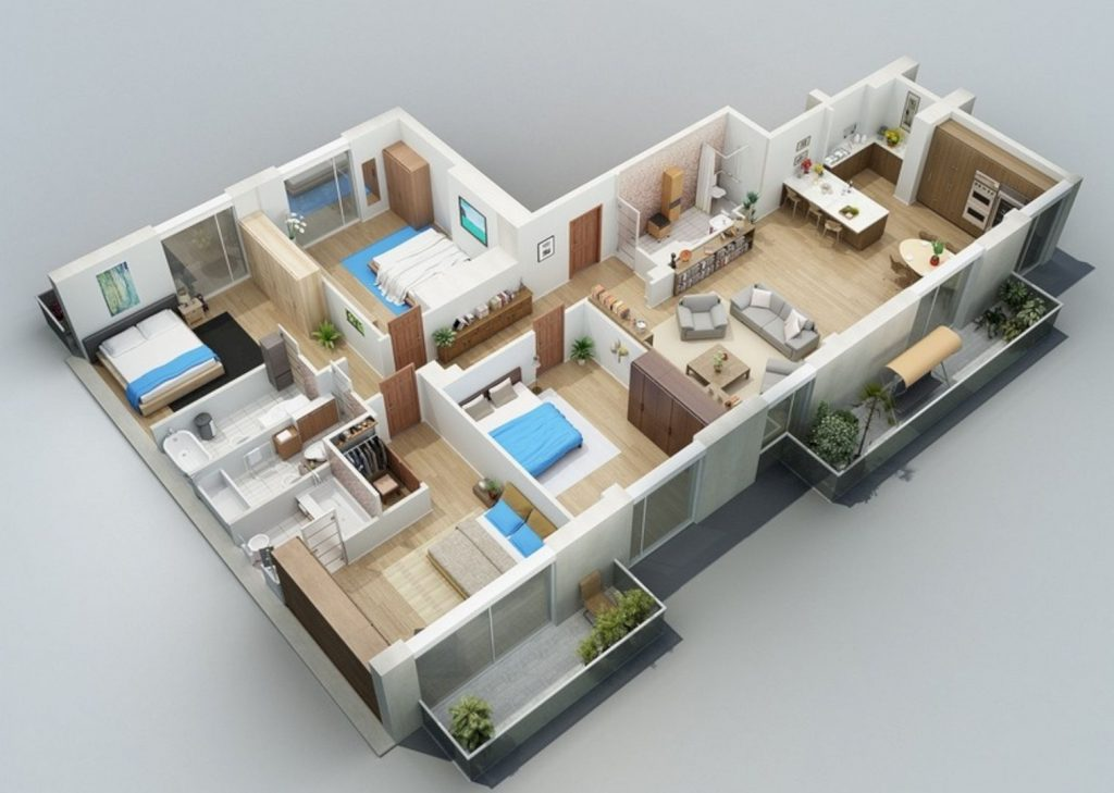 xây nhà cấp 4 diện tích 8x12m-3