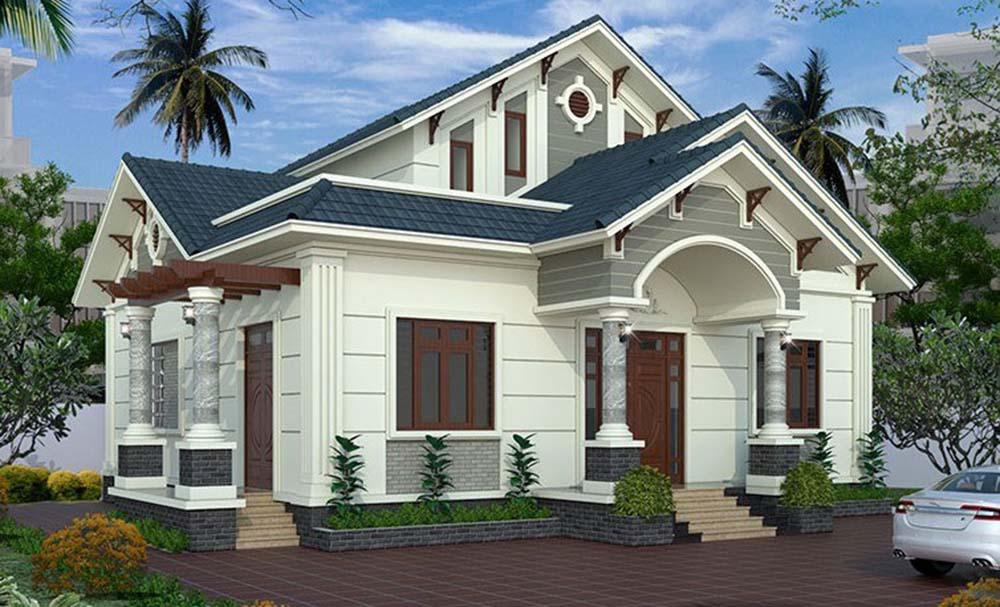 xây nhà cấp 4 diện tích 8x12m-9