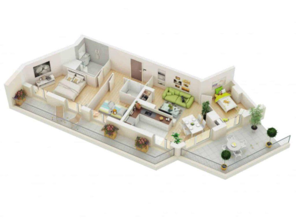 thiết kế nhà ống 1 tầng 3 phòng ngủthiết kế nhà ống 1 tầng 3 phòng ngủ