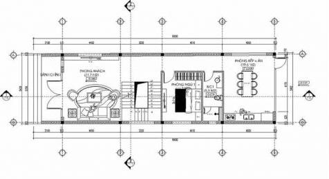 mẫu nhà 2 tầng 6x18m