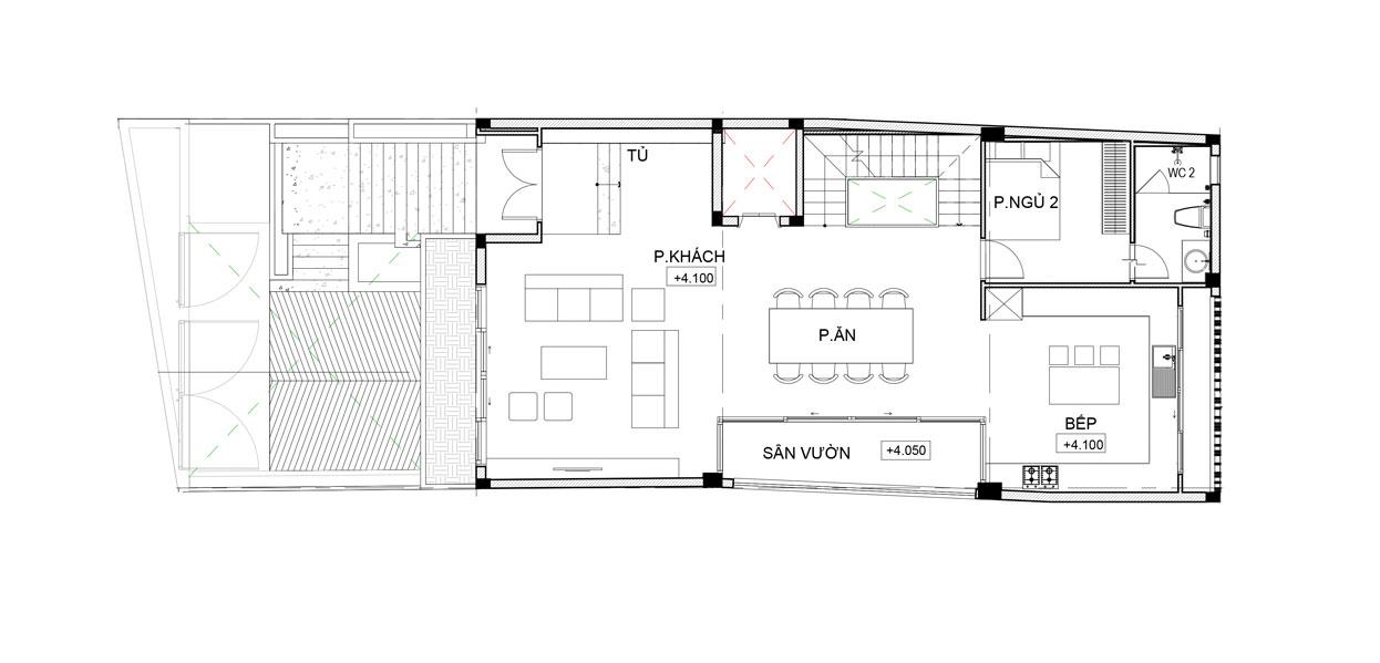 nhà 3 tầng 5 phòng ngủ