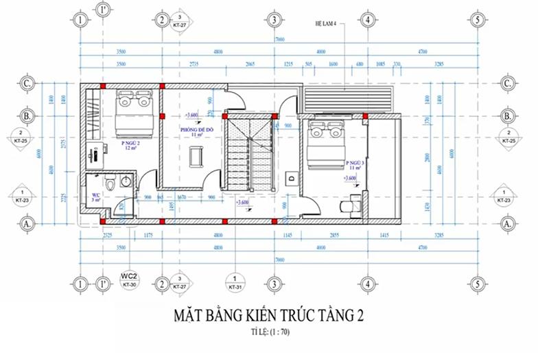 mẫu nhà ống 3 tầng 6x17m