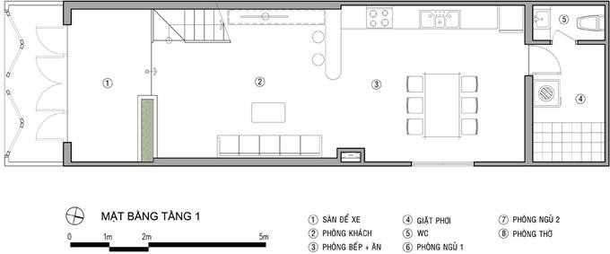 Mẫu thiết kế nhà 2 tầng 60m2