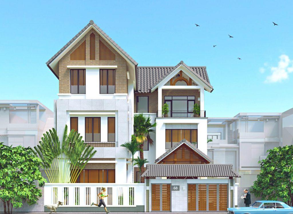 Mẫu thiết kế nhà 3 tầng 12x12m