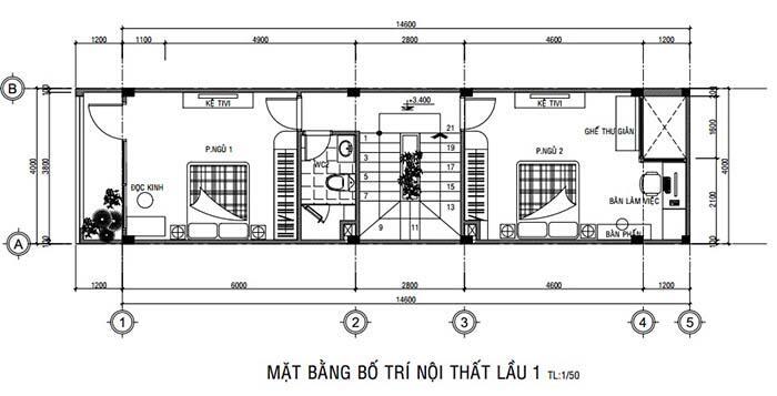 mẫu nhà 3 tầng 4x16m