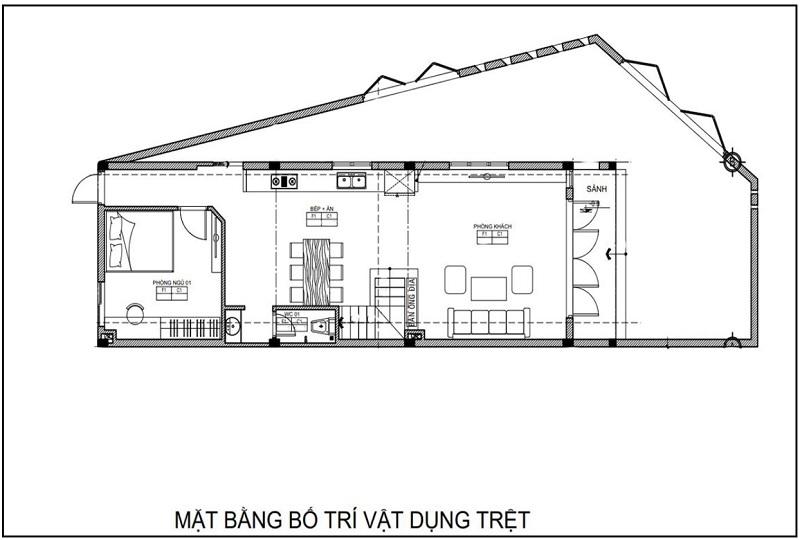 mẫu thiết kế nhà 2 tầng 6x16m